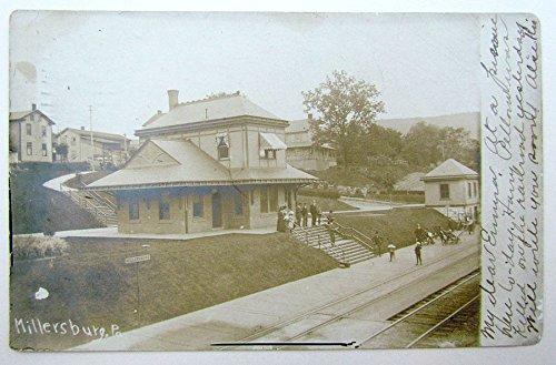 - VINTAGE 1906 PHOTO POSTCARD MILLERSBURG PA TRAIN STATION railroad railway RPPC