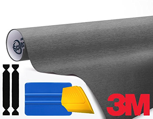 (3M 1080 Brushed Steel Air-Release Vinyl Wrap Roll Including Toolkit (3ft x)