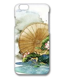 iCustomonline Fresh Lotus Flower 3D Hard Back Skin Cover for iPhone 6( 4.7 inch)