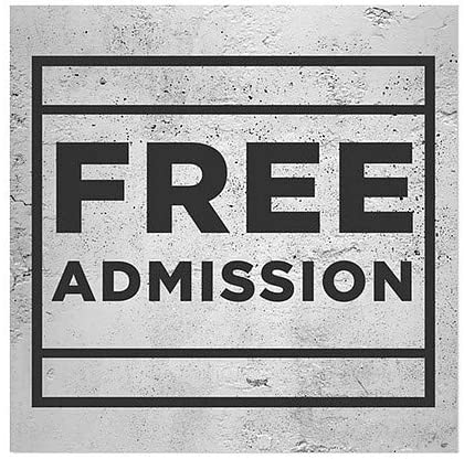 24x24 CGSignLab Basic Gray Window Cling Free Admission 5-Pack