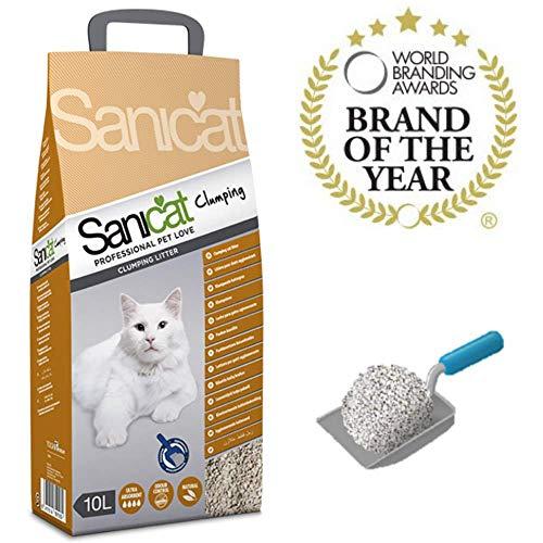 Comprar SANICAT Clumping Arena Aglomerante Gatos - 10L - Máxima absorción sin renunciar al control de los malos olores. Envíos Baratos o Gratis 24/48H