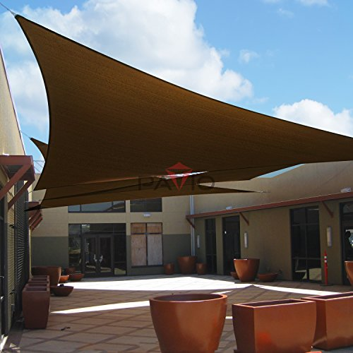Amazon.com : Patio Paradise 8u0027x8u0027x11.3u0027 Brown Sun Shade Sail Right Triangle  Canopy   Permeable UV Block Fabric Durable Patio Outdoor   Customized  Available ...