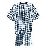 Botany 500 Men's Big and Tall Short Sleeve Knee Length Pajama Set, 5X