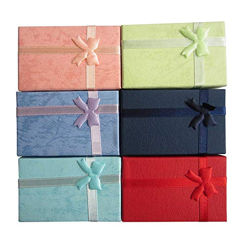 FidgetKute 12pcs Paper Jewelry Gifts Boxes for Jewelry Display-Rings Small Watches ()