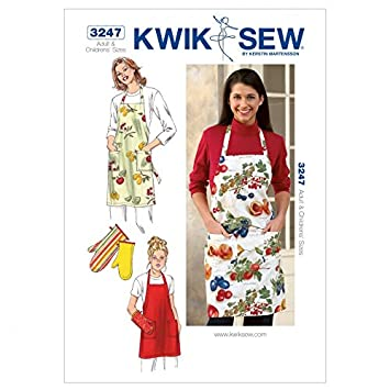 Kwik Sew Mutter/Tochter Schnittmuster 3247 – Schürzen (O/S): Amazon ...