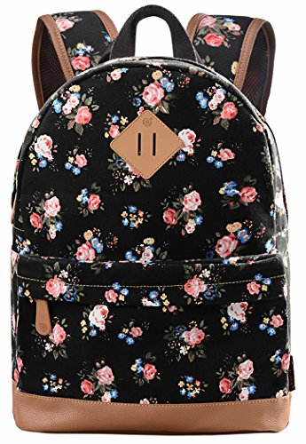 School Bookbags for Girls, Floral Backpack College Bags Women Daypack
