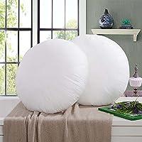The Purple Tree Cotton Round Cushion Filler 16X16 Inches - 2 Pc,White,Standard,Cotton