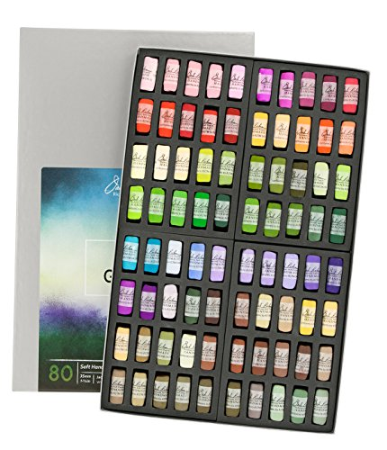 Jack Richeson Hand Rolled Soft Pastels Landscape Garden, 80 Piece Set by Jack Richeson