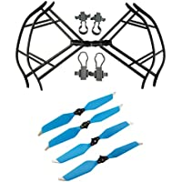Upgraded Propellers for DJI Mavic Pro 8331 8331F Low-Noise Quick-release Folding Propellers Prop Guard Bumper Rc Quadcopter Spare Part Set (Black-Blue)
