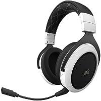 Corsair HS70 Kabelloses Gaming Headset (7.1 Surround Sound, mit abnehmbaren Mikrofon, für PC/PS4) weiß