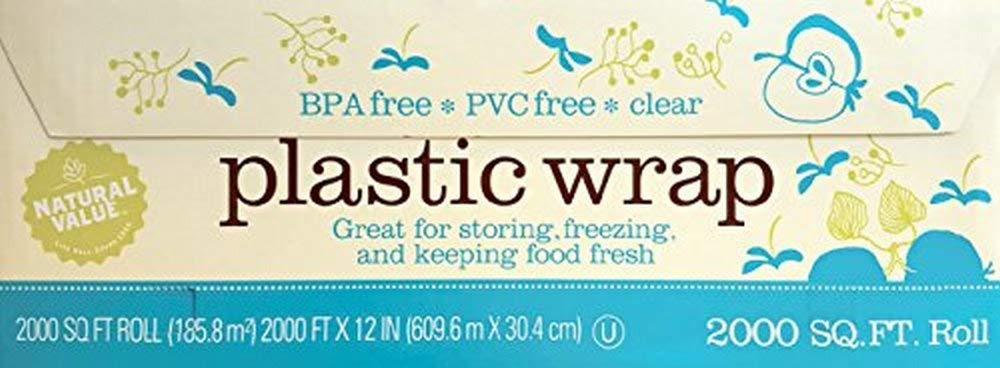 Natural Value Clear Plastic Wrap / 2,000 sq. ft. roll by Natural Value