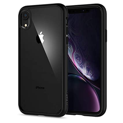 finest selection 6a43a b984a Spigen [Ultra Hybrid] iPhone XR Case 6.1 inch with Air Cushion Technology  and Clear Hybrid Drop Protection for iPhone XR (2018) - Matte Black