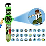 S S TRADERS - BEN10-24 Different Images Projector Digital Toy Watch with cute Kids Magic Tiger Slate for Kids - Good Return Gift - COMBO OFFER