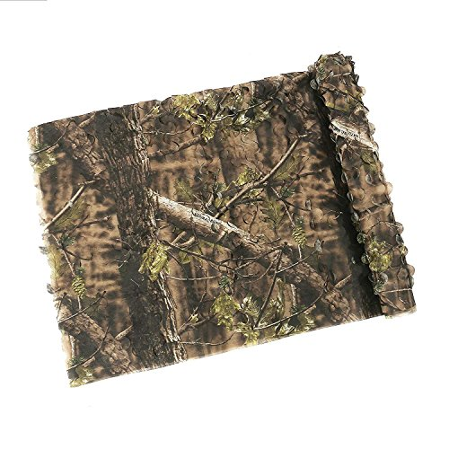 Auscamotek Lightweight Camo Netting Camouflage nets for Turkey Hunting Blinds-Green 5×20Ft (Turkey Hunting Blinds)