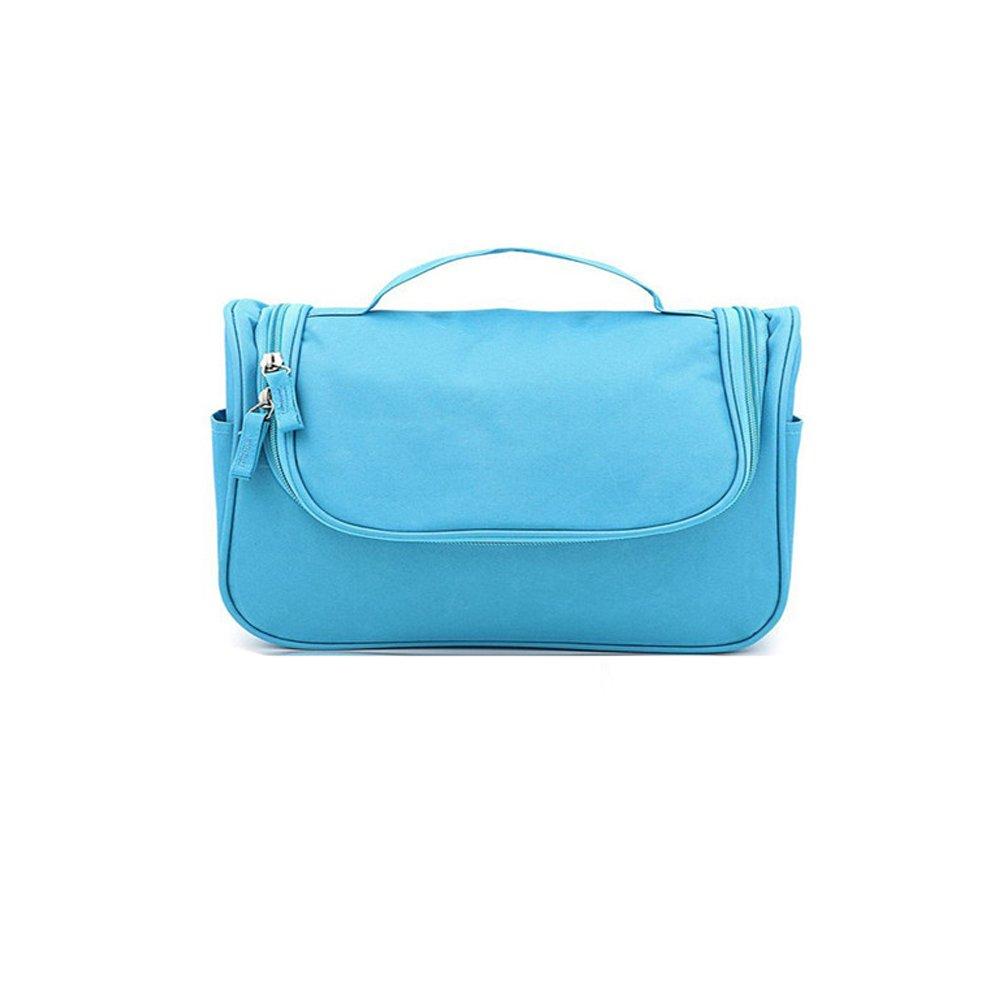 Atommy Cosmétique sac pour les hommes et les femmes maquillage sac à glissière avec fermeture à glissière cosmétiques imperméables voyage multifonctionnel sac, 1 pcs (Bleu)