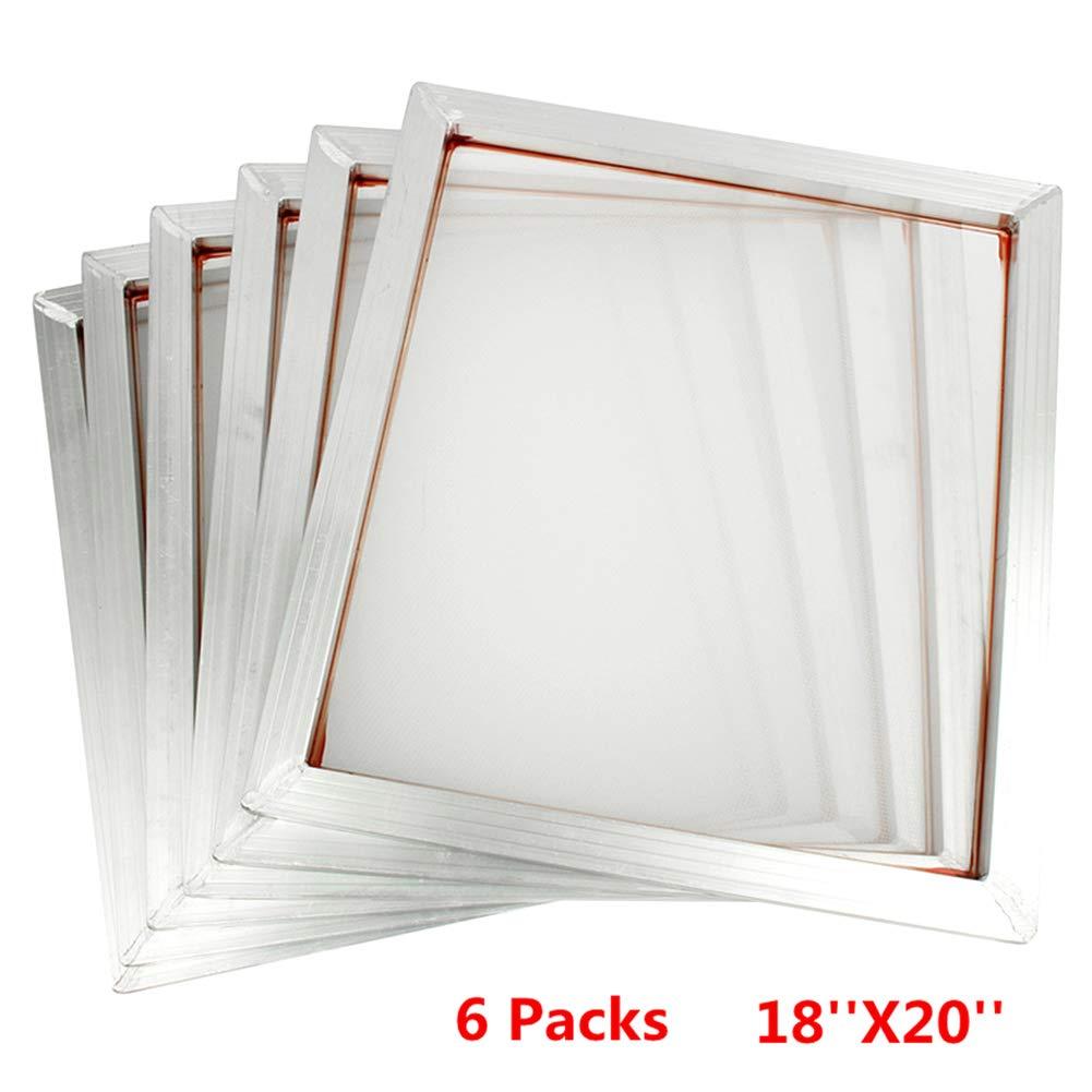 45 x 50 cm Set di 6 telai in Alluminio con Stampa Serigrafica 110 Mesh Daxerg