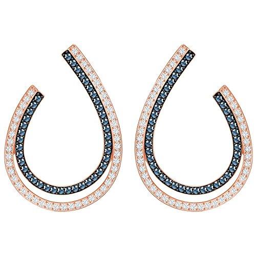 (Swarovski Lemon Hoop Pierced Earrings - Blue - Mixed Plating - 5382033)