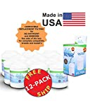(12-Pack) GE MWF Compatible Refrigerator Water and Ice Filter by Zuma Water Filters (OPFG)
