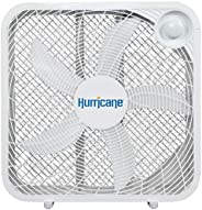 Hurricane Box Fan - 20 Inch, Classic Series, Floor Fan with 3 Energy Efficient Speed Settings, Compact Design,
