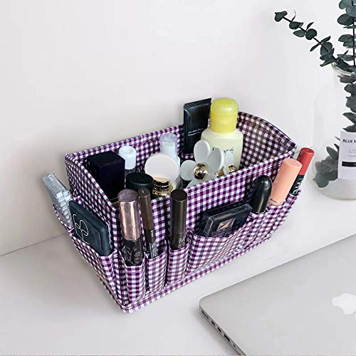 SHONPY Makeup Comestic Storage Oragnaziers Box Case Foladable Containers Bins, Accessories Jewelry, Hold Makeup (purpul, 1) ()