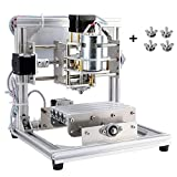 TopDirect CNC Router Machine DIY CNC Engraving Machine, 130 * 100 * 40mm, 3 Axis Mini PCB Acrylic Wood Carving Milling Engraver Machine + 3pcs Mill Engraving Bits + 4Sets CNC Plates