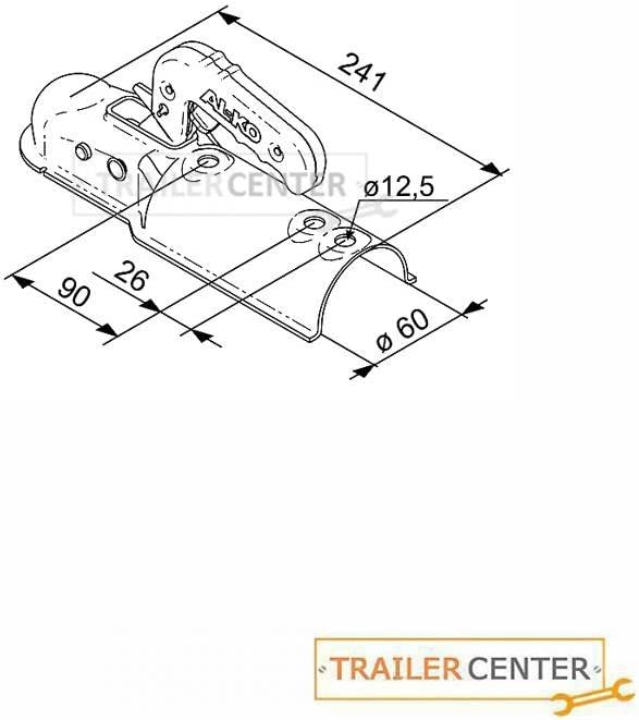 AL-KO Kugelkupplung AK 7 PLUS Ausf/ührung B /• 60mm rund