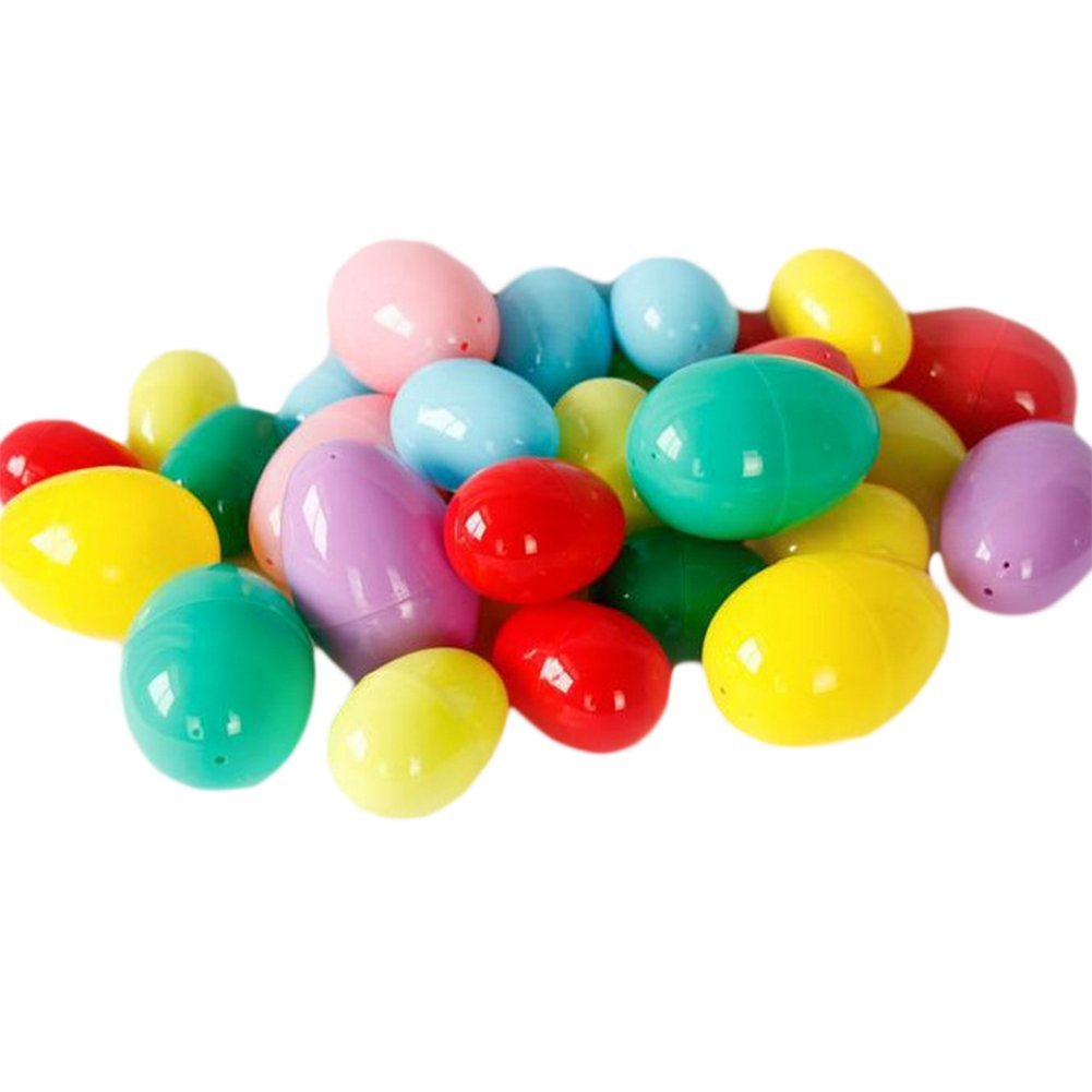 4cm Random Color Skyeye 12 Pcs//set DIY Decorative Plastic Lottery Eggshell Eggs Open Egg Easter Eggs Plastic Decoration Openings Egg Shell Eggshell DIY 6
