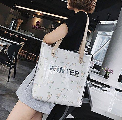 Spalla Deerword Nero Messenger Borsette Polso Bianco Borse Da Donna Mano A qfTwP