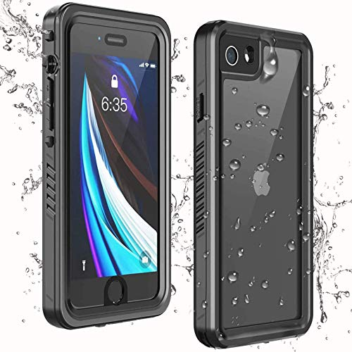 Temdan iPhone SE 2020 Case iPhone 8 Case iPhone 7 Case Waterproof,Clear Sound Quality Built-in Screen Protector Heavy Duty IP68 Waterproof Shockproof case for iPhone SE (2020)/8/7 4.7 inch (White)