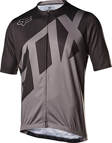 Fox Racing Livewire Jersey - Short Sleeve - Men's Black/Charcoal, M ()