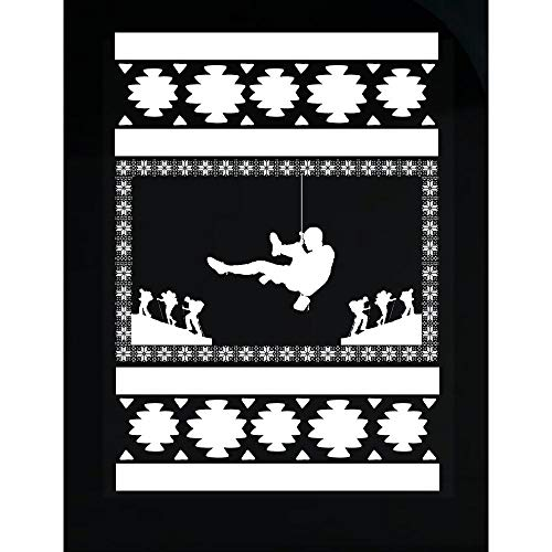 - BADASS REPUBLIC Climbing Ugly Christmas Sweater Look Gift for Mountaineer - Transparent Sticker