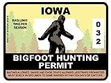 Bigfoot Hunting Permit - IOWA (Bumper Sticker)
