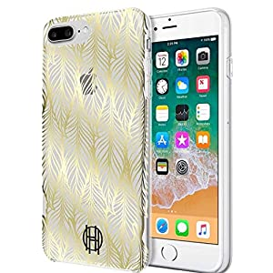 House of Harlow 1960 Printed Case for iPhone 8 Plus, iPhone 7 Plus & iPhone 6 Plus/6s Plus – Leaf Print Gold Foil/Clear