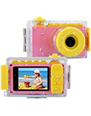 BlueFire Kids Digital Camera Mini 2 Inch Screen Children's Camera 8MP HD Digital Camera with Waterproof Case & 256M SD Card, Birthday / Christmas / New Year Toy Gifts for 4 5 6 7 8 9 10 Year Old Girls(Pink)