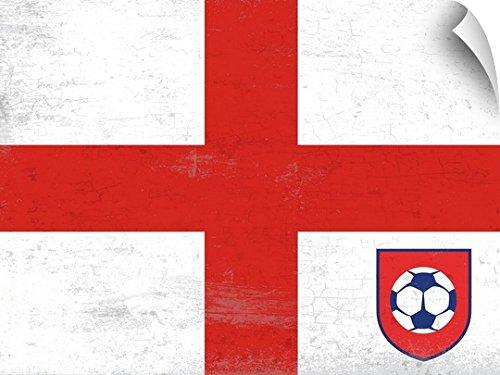 Peter Horjus Wall Peel Wall Art Print entitled Soccer Flag, England 60''x45'' by Canvas on Demand