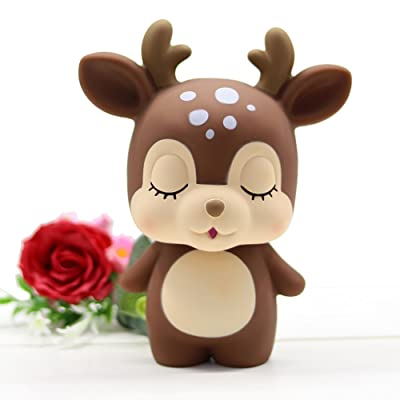 MASSJOY Deer Child Piggy Bank, Boy and Girl Cartoon Drop-Proof Piggy Bank, Children's Day Gift. : Baby