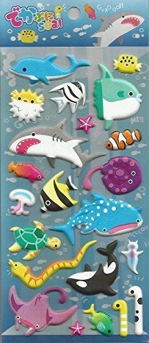 Sea World Puffy Sticker, 2 Sheets, #10202