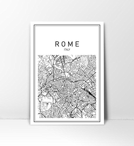 Italy Map Wall Art.Rome Map Rome Print Map Of Rome Italy Map Italy Wall Art Map