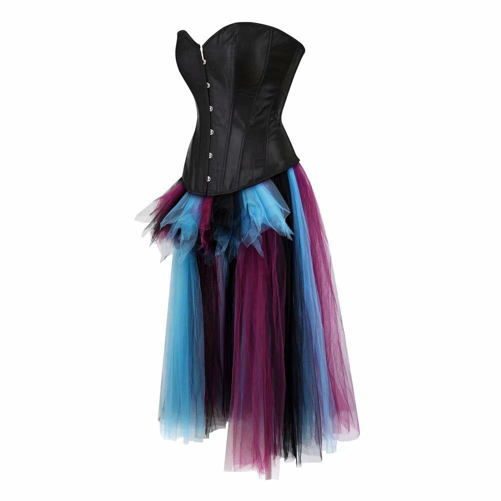Korsett Kleid Asymmetrie Steampunk Corsagenkleid Bustier Corsage