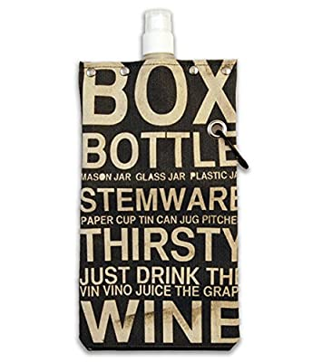 Subway Design Water,Wine and Beverage Canvas Reusable Flask Bottle & Tote Carrier Holds 750ml/26oz