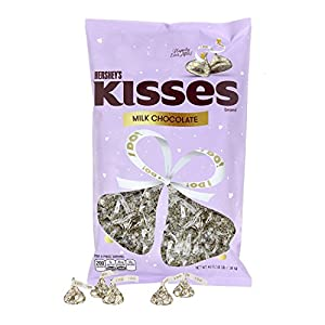KISSES Chocolates, Gluten-Free Solid Milk Chocolate Candy Wrapped in Wedding