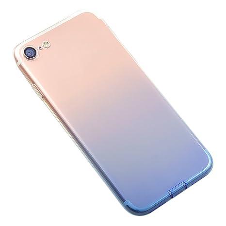 DaoRier Carcasa Móvil para iPhone 7 4,7 TPU suave Teléfono Móvil por niveles Color Ultra Slim Cover Case resistente a los arañazos. GEL5830VL ligera ...