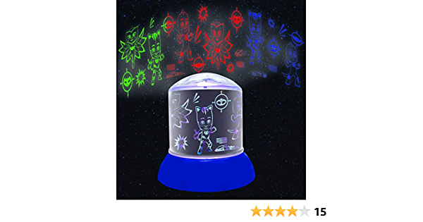 Pj Mask PJ Masks Luz de Noche, quitamiedos de los Pijamasks (NL030PJM), Color Azul (Lexibook NLJ030PJM)
