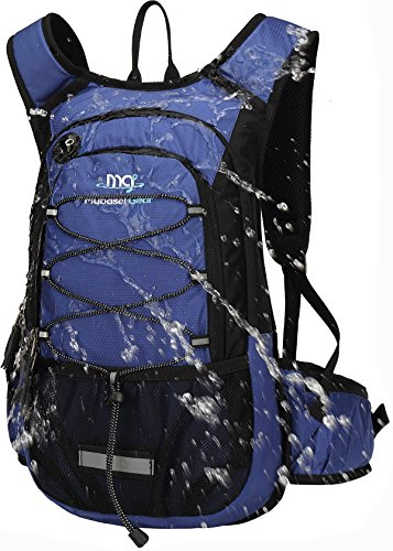 Mubasel Gear Insulated Hydration Backpack Pack with 2L BPA Free Bladder - Keeps Liquid Cool up to 4 Hours – for Running, Hiking, Cycling, Camping (Navy) ()