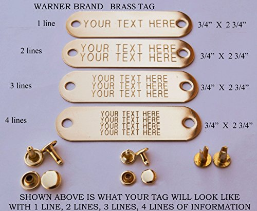 warner-brand-brass-gold-tag-1-for-dog-collar-with-3-sets-of-rivets-pet-id-plate-id-tag