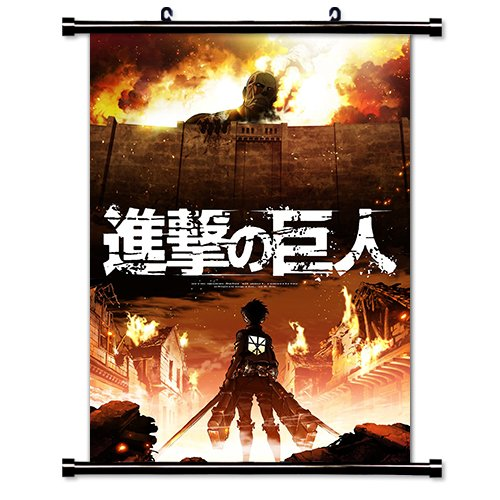 Fabric Wall Scroll Poster - Attack on Titan (Shingeki no Kyojin) Anime Fabric Wall Scroll Poster (16x22) Inches [WP]