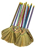 Caravelle Choi Bong Co Vietnam Hand Made Straw Soft Broom with Colored Handle 12'' Head Width, 40'' Overall Length -1pc