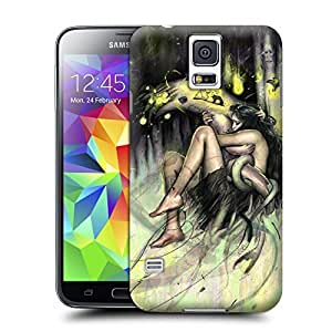 Unique Phone Case Women in the Arts rod luff obsucre contemporary urban fantasy art girl woman fish Hard Cover for samsung galaxy s5 cases-buythecase