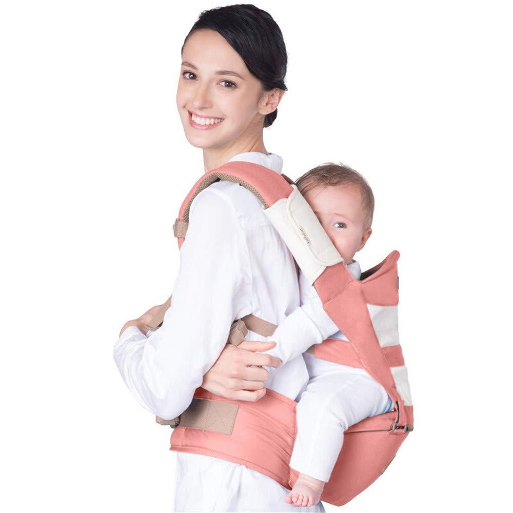 FIFY Babytrage Baby Schlinge Taille Stuhl Baby Neugeborenen halten atmungsaktive Schultern Vier Jahreszeiten multifunktionale Baby Sitz Stuhl Vitalität Orange C10