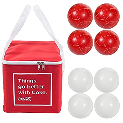 Trademark Games 9 Piece Bocce Ball Set with Easy Carry Nylon Case | Popular Toys